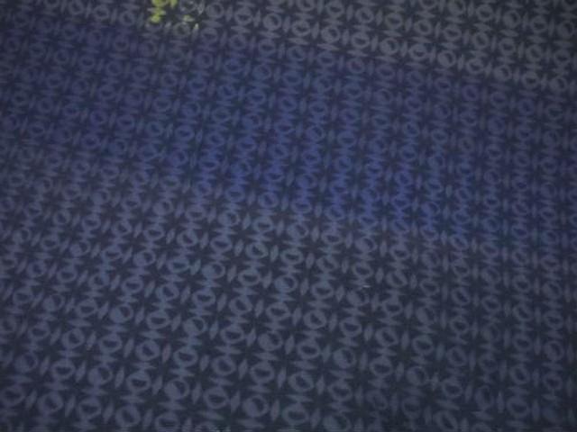 Jersey coton bleu marine devore carreaux effet d optique 2