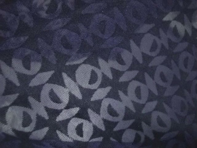 Jersey coton bleu marine devore carreaux effet d optique 3