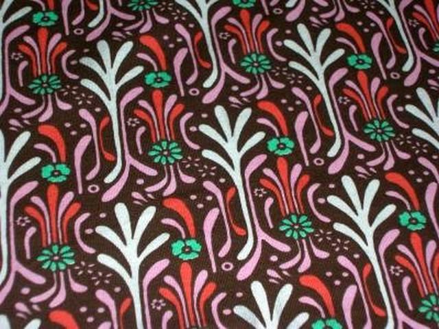 Jersey coton brique motifs art deco 1