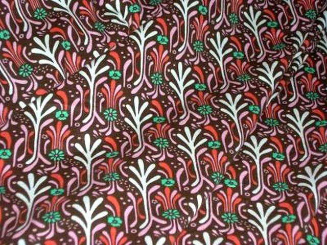 Jersey coton brique motifs art deco 3