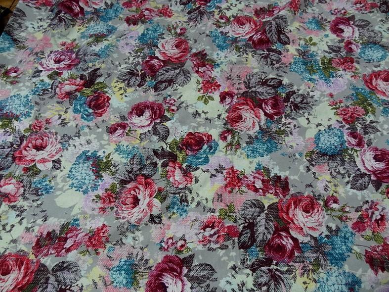 Jersey coton gratte fleurs canevas 1