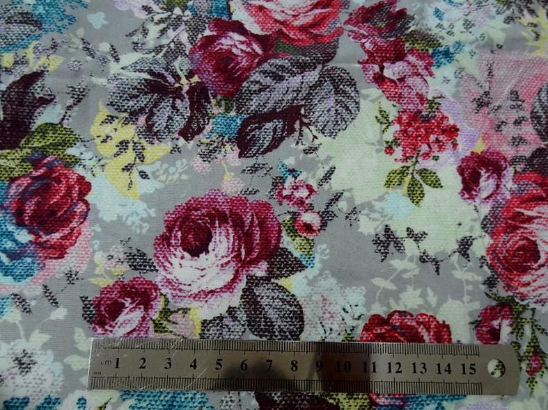Jersey coton gratte fleurs canevas 2