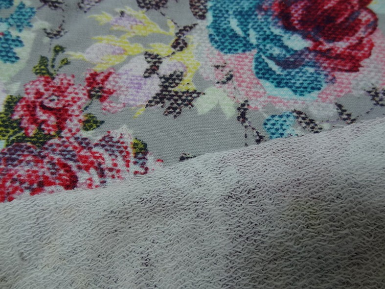 Jersey coton gratte fleurs canevas 3