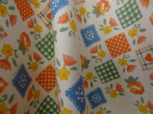 Jersey coton imprimé tablier 04