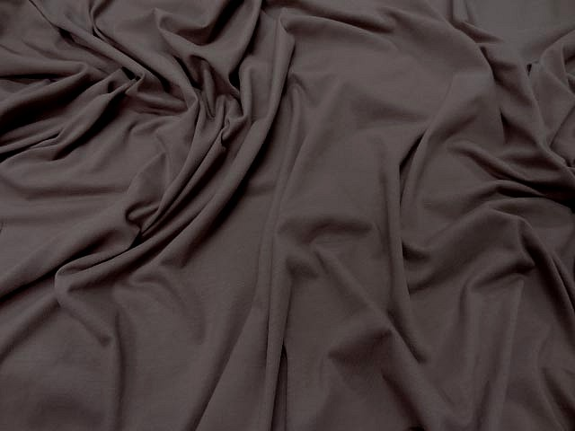 Jersey coton lycra beige taupe 1