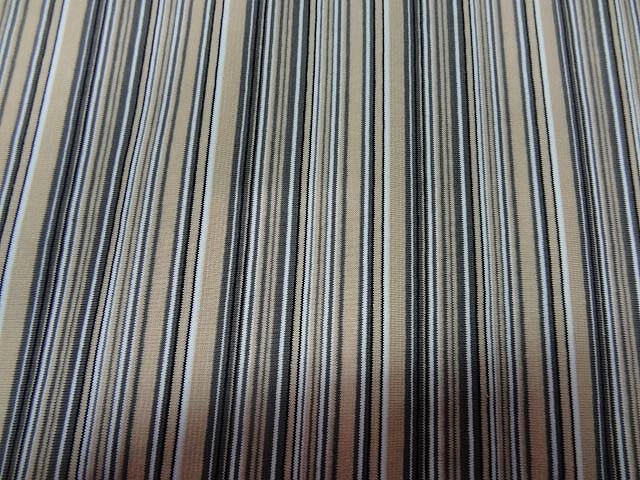 Jersey coton lycra raye beige gris5