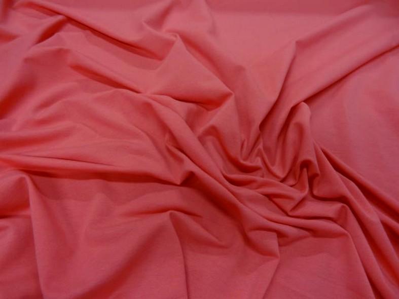 Jersey coton lycra rose nacarat 1