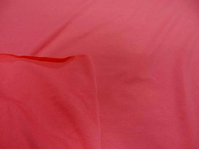 Jersey coton lycra rose nacarat 2
