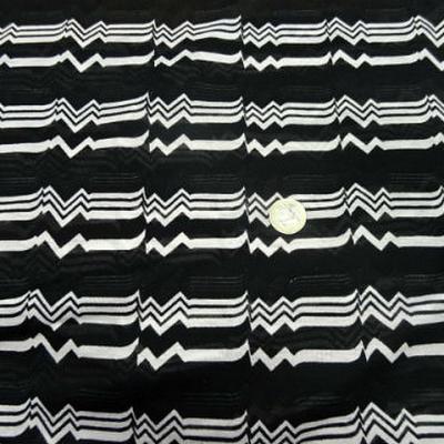 Jersey coton melange noir rythme 1