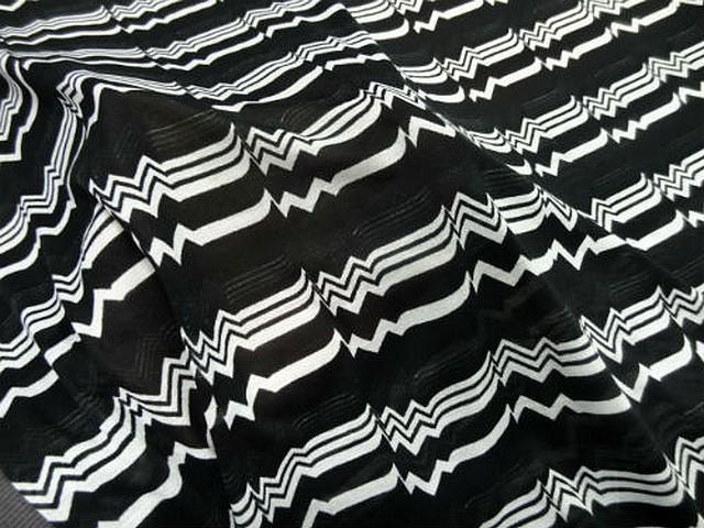 Jersey coton melange noir rythme 2
