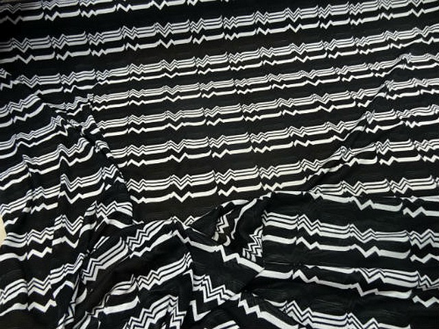 Jersey coton melange noir rythme 3