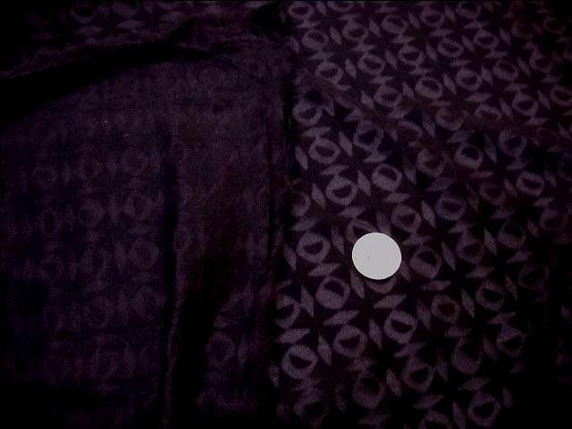 Jersey coton melange prune devore carres et spheres 4