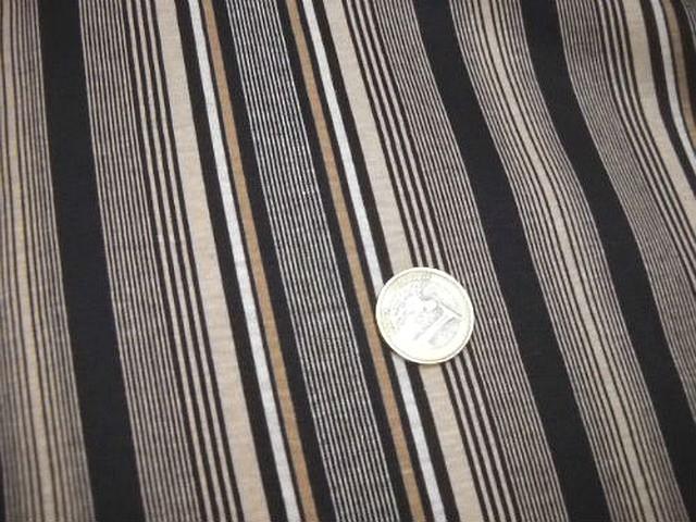 Jersey coton raye bisque noir 1