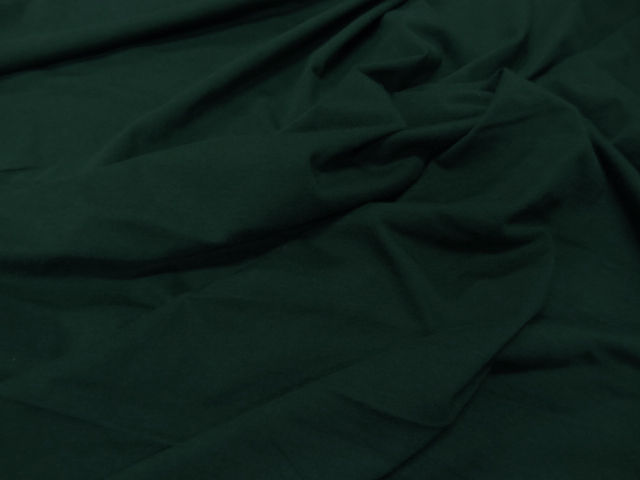 Jersey coton vert epinard 1