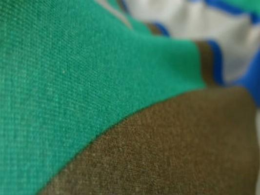Jersey coton vintage vert-bleu acidulé 03