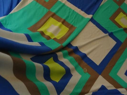 Jersey coton vintage vert-bleu acidulé 04