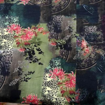 Jersey coton viscose mandala et fleurs