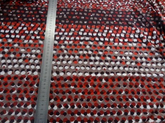 Jersey coton viscose pois bordeaux 01