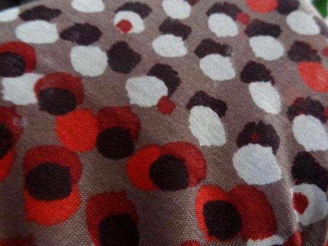 Jersey coton viscose pois bordeaux 02