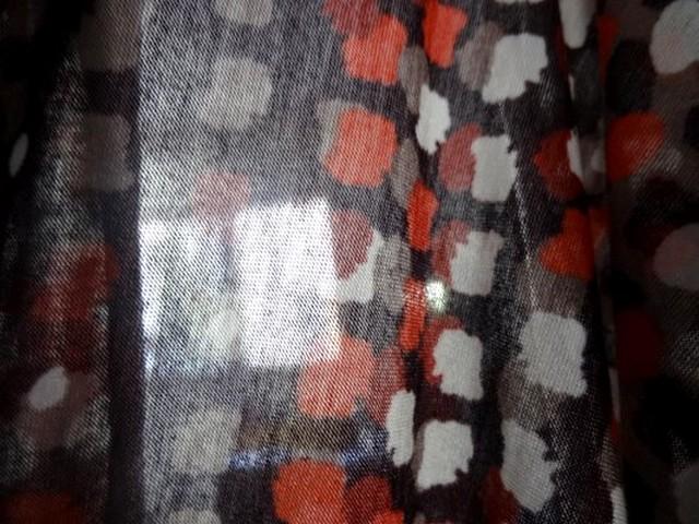 Jersey coton viscose pois bordeaux 03