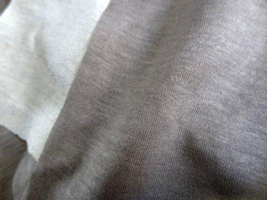 Jersey coton viscose taupe bi bandes 03