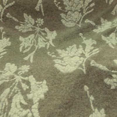 Jersey de laine aspect laine cardee beige chine fleuri ecru 3