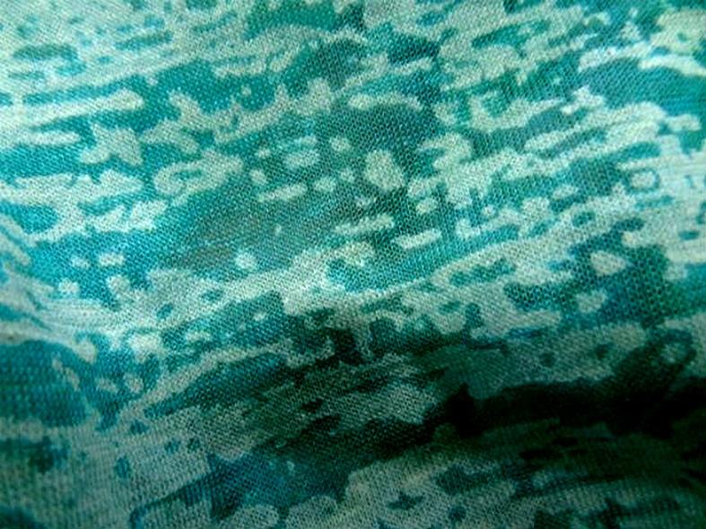Jersey devore turquoise aspect crepis 1 1
