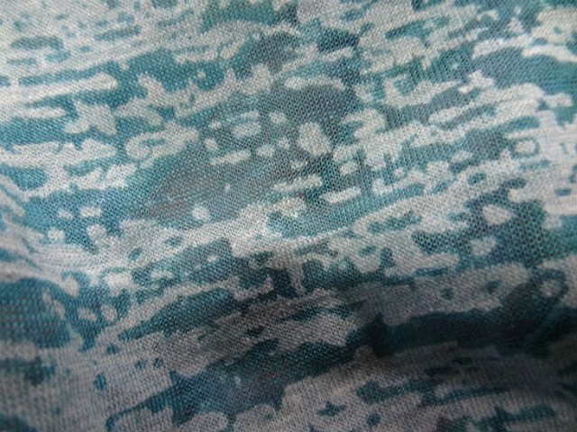 Jersey devore bleu aspect crepis 1