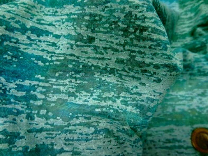 Jersey devore turquoise aspect crepis 2 1