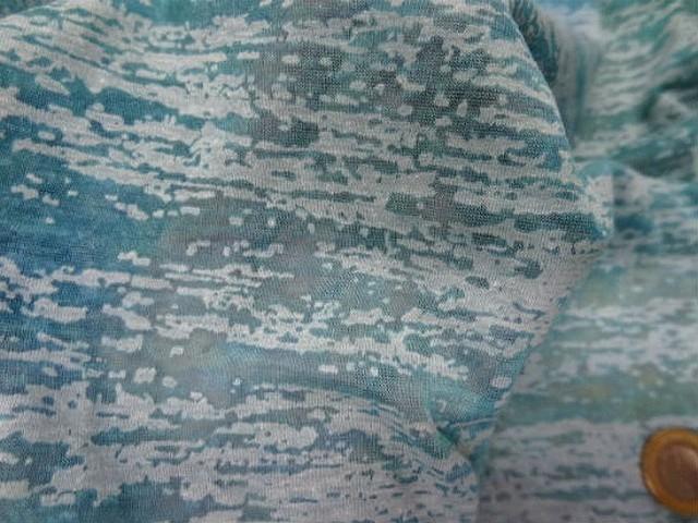 Jersey devore bleu aspect crepis 2