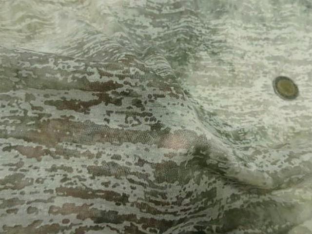 Jersey devore kaki clair aspect crepis 3