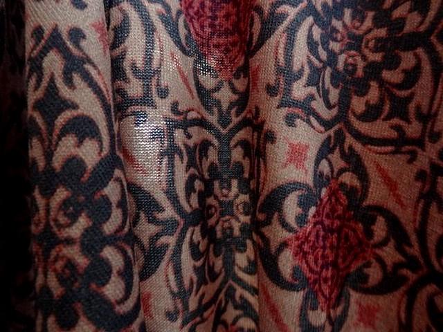 Jersey et mousseline assortie orient