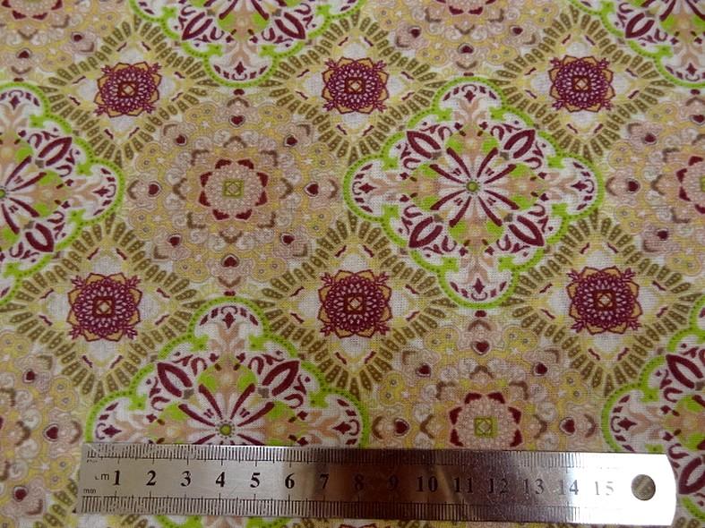 Jersey fin carreaux fleuris vintage 1
