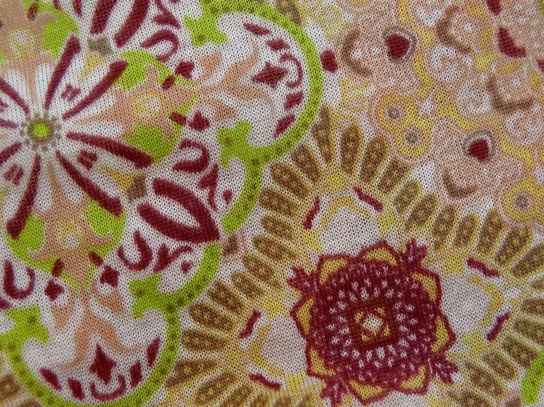 Jersey fin carreaux fleuris vintage 3