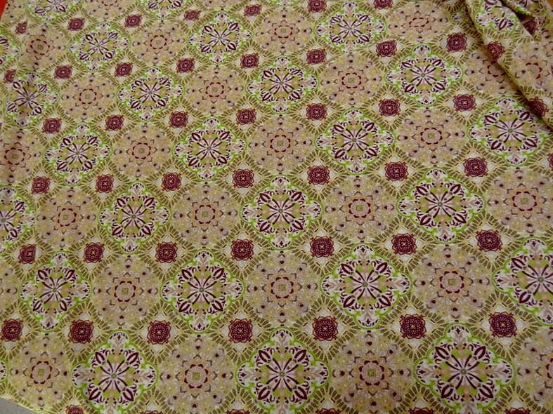 Jersey fin carreaux fleuris vintage 4