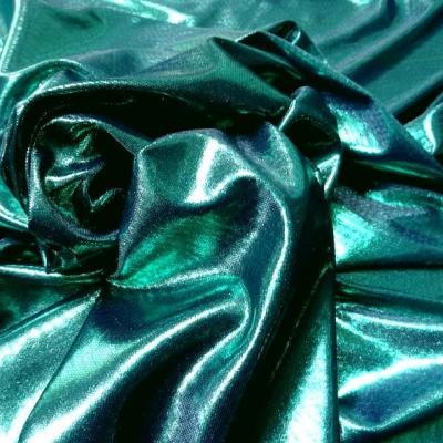Jersey fin lame bleu vert turquoise 2