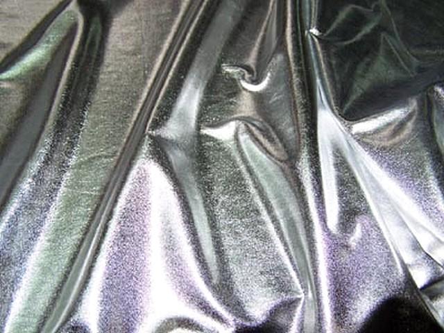 Jersey fin lame couleur argent