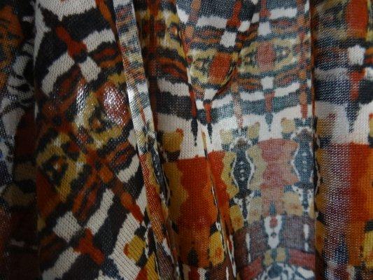 Jersey fin marron ocre ethnique 03