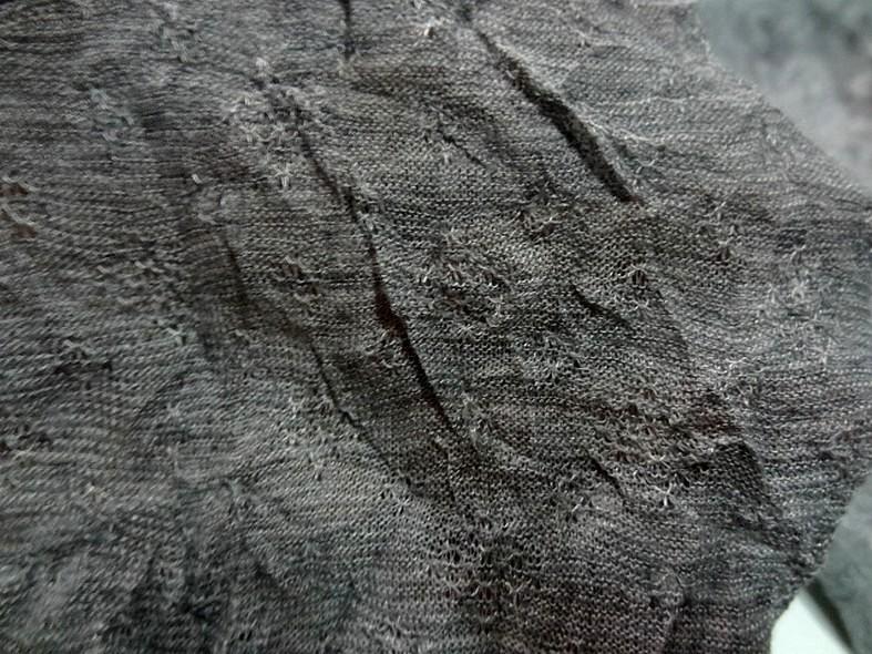 Jersey fin melange froisse permanent gris argente 1