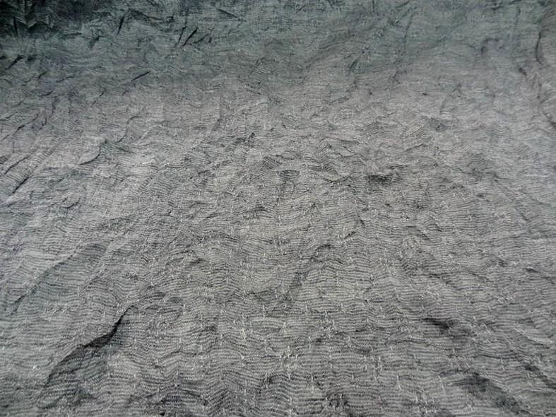 Jersey fin melange froisse permanent gris argente 4