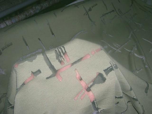 Jersey kaki clair devore resille moderne 3