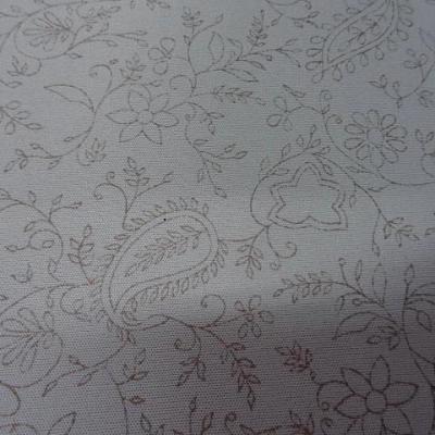 Jersey lycra gris perle cachemire fleuri 2