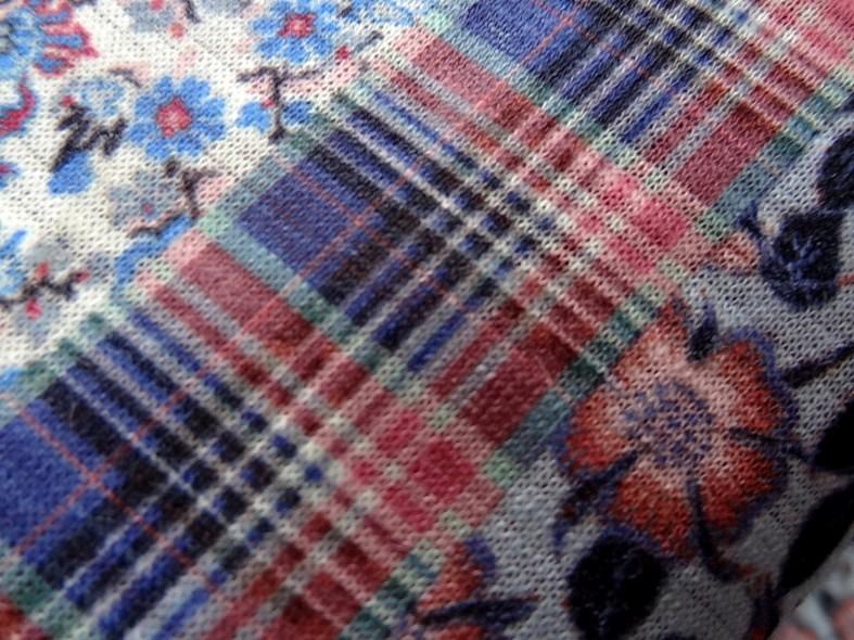 Jersey polyester carreaux et fleurs 6
