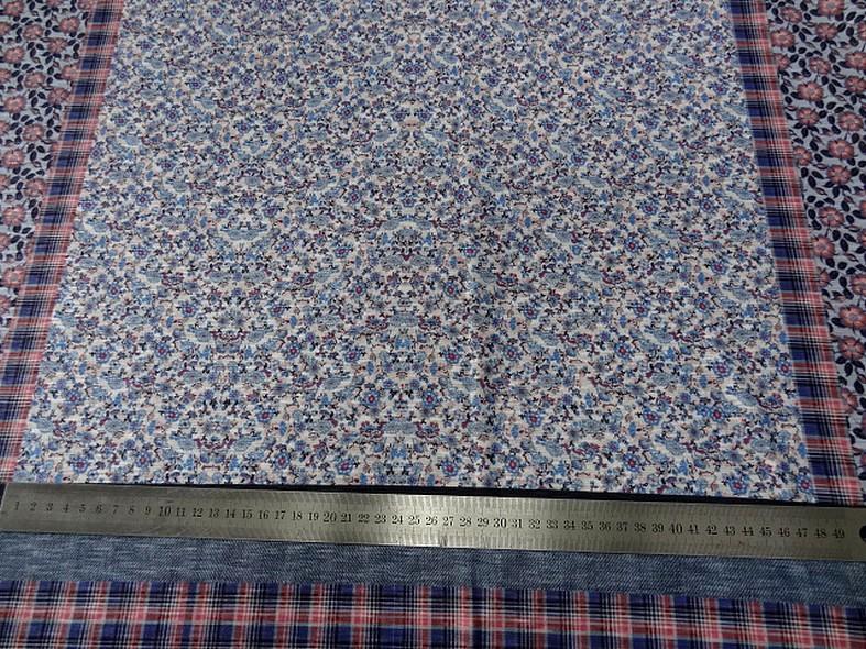Jersey polyester carreaux et fleurs 7