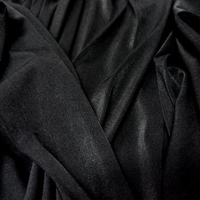 Jersey polyester lycra noir 1