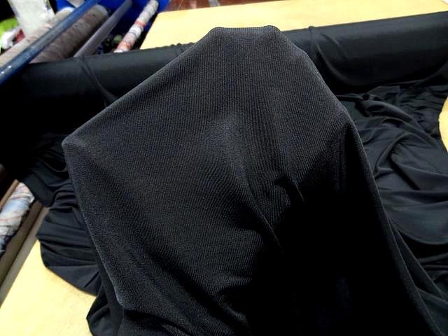 Jersey polyester lycra noir 3
