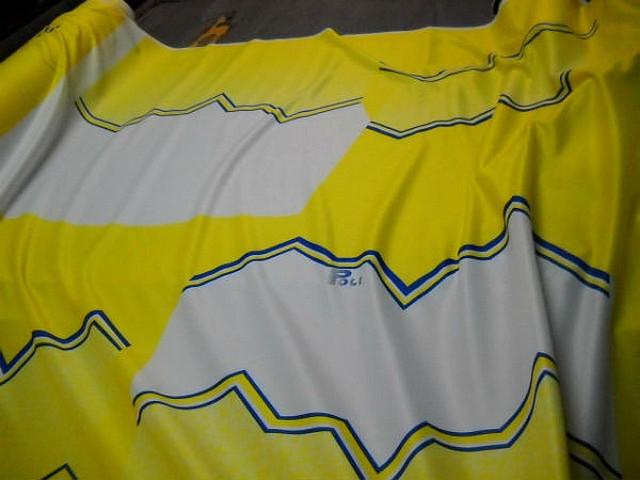 Jersey polyester sport jaune et blanc 1