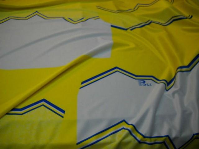 Jersey polyester sport jaune et blanc 2