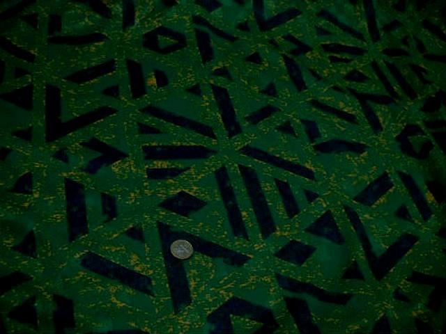 Jersey polyester vert gazon marbre motif geometrique marine 1