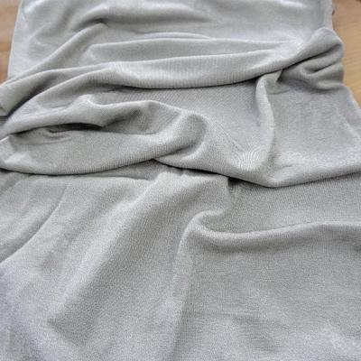 Jersey tubulaire gris argent fin 1